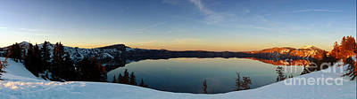 The Golden Hour - Crater Lake Art Print