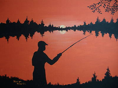 Northwoods Painting - The Golden Hour by Norm Starks