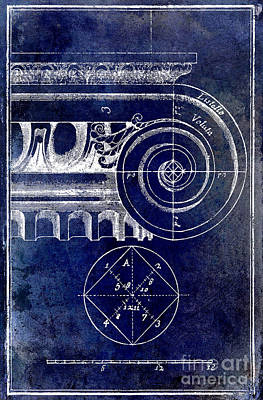 The Golden Mean Blue Art Print by Jon Neidert