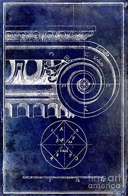 The Golden Mean Blue Art Print