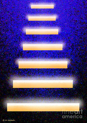 Digital Art - The Golden Stairs by Cristophers Dream Artistry