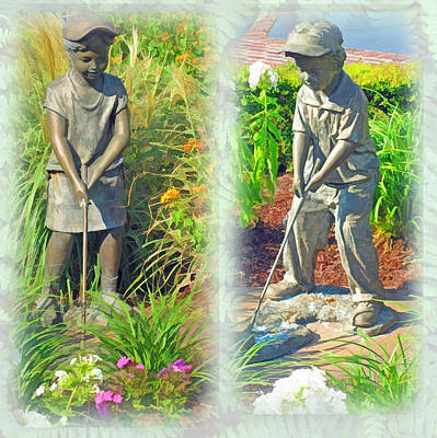 Golf Statues Photograph - The Golfers by Barbara McDevitt