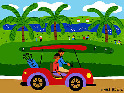 The Golfers Art Print