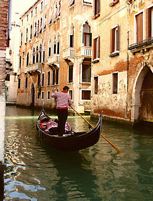 The Gondolier Art Print by Ellen Henneke