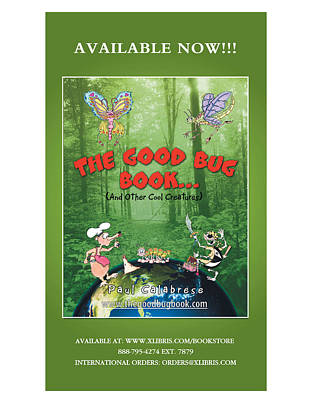 Digital Art - The Good Bug Book Poster by Paul Calabrese