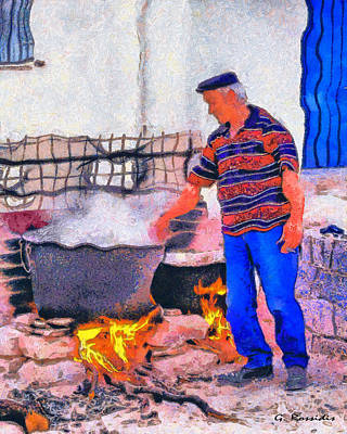 Travel Painting - The Good Cook by George Rossidis
