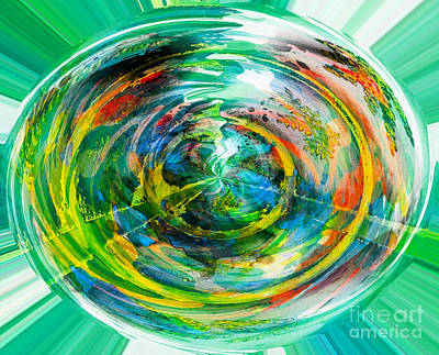 The Good Earth - Green - Healthy - Environment  Art Print by Barbara Griffin