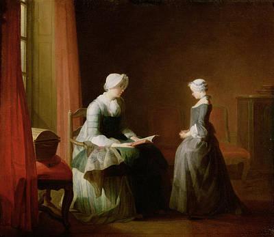 The Good Education, 1753 Oil On Canvas Art Print