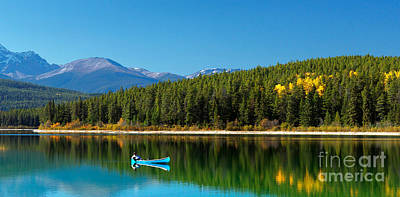 Landscape Mountain Trees Fisherman Photograph - The Good Life by Frank Wicker