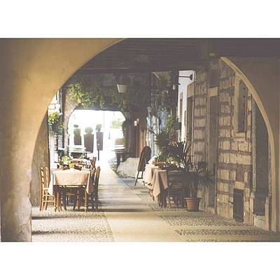 Architecture Photograph - The Good Life  #italy #summer #dine by A Rey