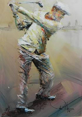 Golf Art Painting - The Good Old Days by John Henne