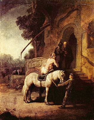 The Good Samaratin Art Print by Rembrandt
