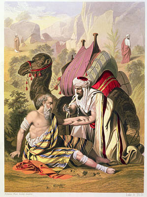The Good Samaritan, From A Bible Art Print by Siegfried Detler Bendixen