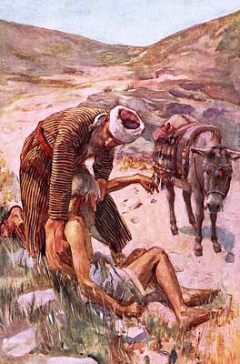 The Good Samaritan Art Print by Harold Copping