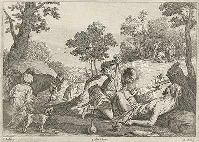 Print Making Painting - The Good Samaritan, Quirin Boel by Quirin Boel