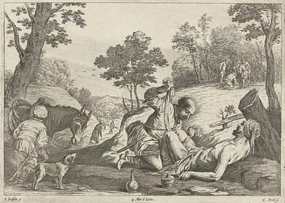 Foot Hills Painting - The Good Samaritan, Quirin Boel by Quirin Boel