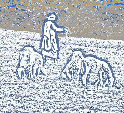 The Good Shepherd 2 Art Print by Lenore Senior and Bobby Dar
