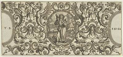 Theodor De Bry Drawing - The Good Shepherd, From Grotisch Fur by Theodor de Bry