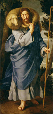 Trussed Painting - The Good Shepherd  by Philippe de Champaigne