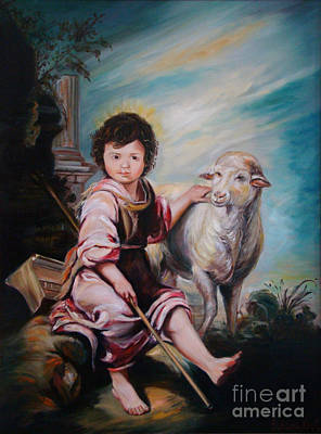 Painting - The Good Shepherd by Silvana Abel