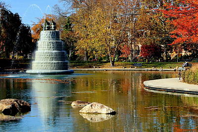 The Goodale Park  Fountain Art Print