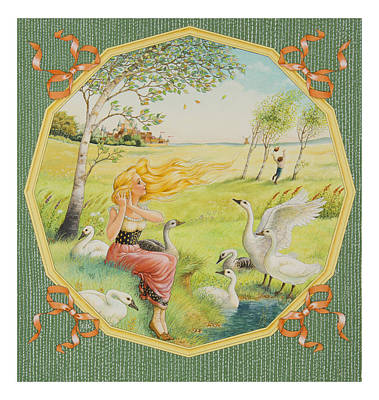 Geese Painting - The Goose Girl by Lynn Bywaters