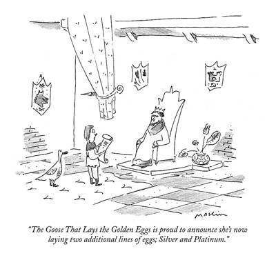 The Goose That Lays The Golden Eggs Is Proud Art Print