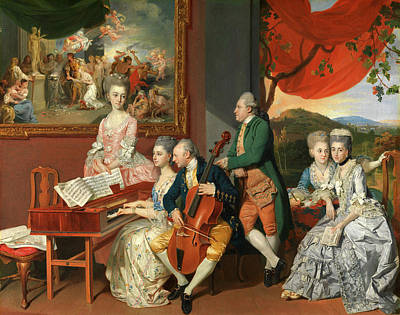 The Gore Family With George, 3rd Earl Cowper George Art Print by Litz Collection