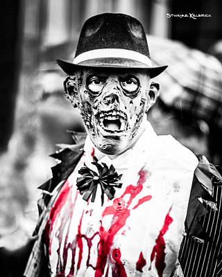 Photograph - The Gory Creepy Zombie  by Stwayne Keubrick