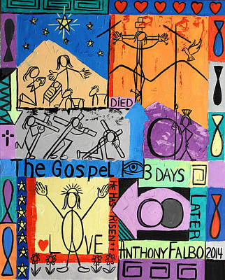 The Gospel Art Print by Anthony Falbo