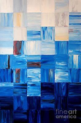 The Goss - Blue Art Print