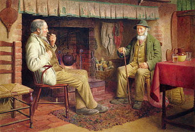 Old Pitcher Painting - The Gossip by Henry Spernon Tozer