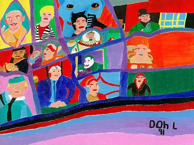 Painting - The Gotham Bunch by Don Larison