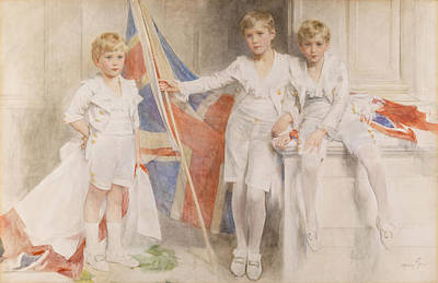 Patriotic Drawing - The Gow Brothers, 1914 by Mary L. Gow