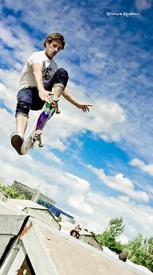 Photograph - The Grab Skater by Stwayne Keubrick