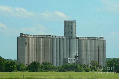 Digital Art - The Grain Elevator by E B Schmidt