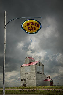 Photograph - The Grain Elevator From The Canadian Tv Sitcom Corner Gas by Randall Nyhof