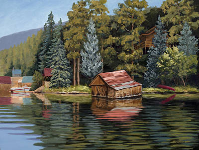 Painting - The Grand Boathouse II by Mary Giacomini