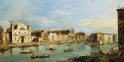 Art Of Building Painting - The Grand Canal by Francesco Guardi
