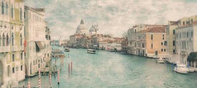 The Grand Canal From The Accademia Bridge Venice Art Print by Paul Bucknall