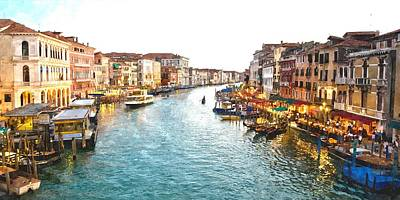 The Grand Canal Of Venice Art Print by Gianfranco Weiss