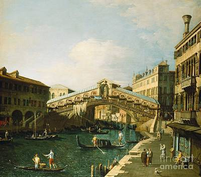 The Grand Canal   Venice Art Print by Canaletto