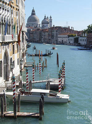 Photograph - The Grand Canal - Venice - Italy by Phil Banks