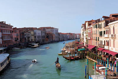 Photograph - The Grand Canal Venice Oil Effect by Tom Prendergast