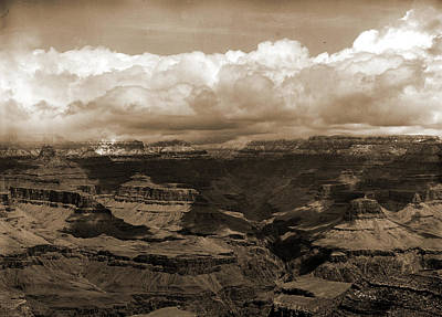 Grand Canyon Drawing - The Grand Canon In Arizona Across From Bright Angel Hotel by Litz Collection