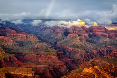 Tranquil Mountaintop Photograph - The Grand Canyon After The Storm by Mountain Dreams