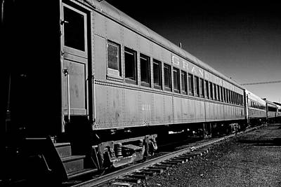 Art Print featuring the photograph The Grand Canyon Express 1 Black And White by James Sage