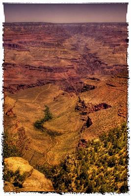 Grand Canyon Photograph - The Grand Canyon Vintage Americana by David Patterson