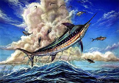 Painting - The Grand Challenge  Marlin by Terry Fox