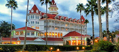 Photograph - The Grand Floridian Resort 02 Walt Disney World by Thomas Woolworth
